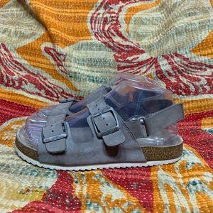 Zara Suede Strap Sandals
